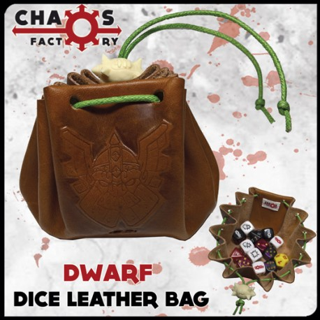 Dwarf Leather Dice Bag