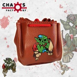 Orc Leather Dice Bag