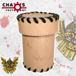 Leather Dwarf Dice Cup with lid