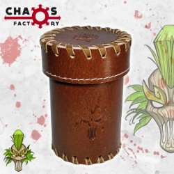 Leather Elf Dice Cup with lid