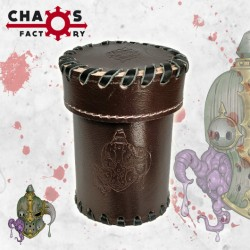 Leather Rotten Dice Cup with lid